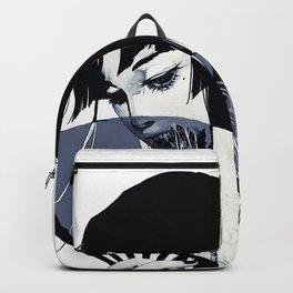Japanese Popart Geisha Kanji Vaporwave Illustration Backpack