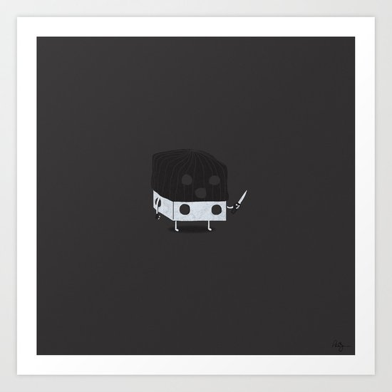 Dicey Little Guy Art Print
