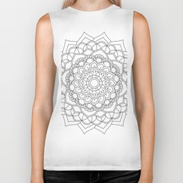 Flower Mandala Design #2 Biker Tank