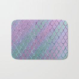 Mermaid Princess Glitter Scales Glam #1 #shiny #stripes #decor #art #society6 Bath Mat