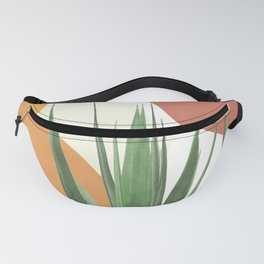 Abstract Agave Plant Fanny Pack