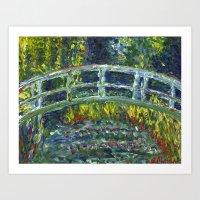 monet Art Prints featuring Monet Interpretation by Britt Miller Art