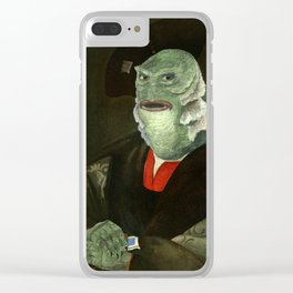 Creature from the Italian Renaissance: Giuliano De Medici meets Black Lagoon Clear iPhone Case