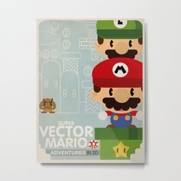 mario bros 2 fan art Metal Print