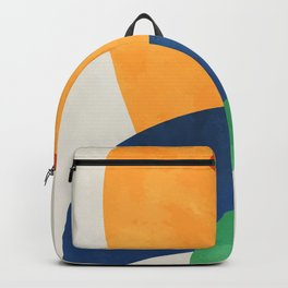 Abstract yellow orange blue green. Lovely abstract art. Elegent home decor. Backpack