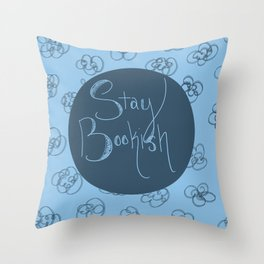 Stay Bookish Throw Pillow