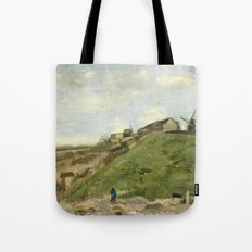 Van Gogh - The hill of Montmartre with stone quarry Tote Bag