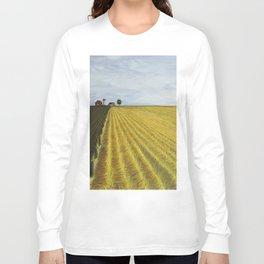 Alone, Farm, Acrylic on Canvas Long Sleeve T-shirt