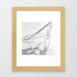 Marble White Winter  Framed Art Print