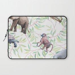 Wild animals African watercolor pattern. Laptop Sleeve
