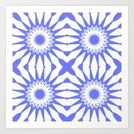 Periwinkle Blue Pinwheel Flowers Art Print