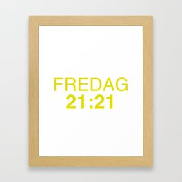 21:21 - isak and even - SKAM Framed Art Print