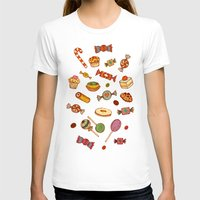 macaroons T-shirts featuring candy and pastries by Chicca Besso