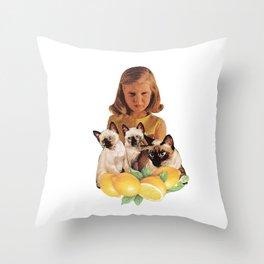 Sour Puss Throw Pillow