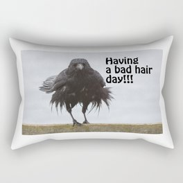 Having a bad hair day Rectangular Pillow