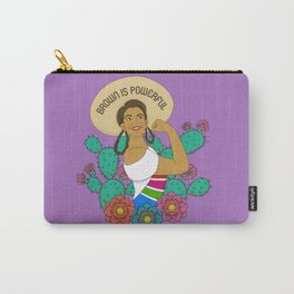 Brown is Powerful Carry-All Pouch