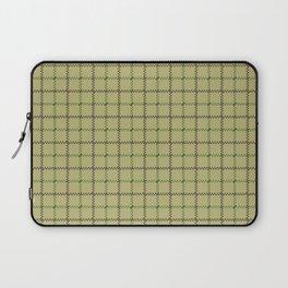 Fern Green & Sludge Grey Tattersall on Wheat Beige Background Laptop Sleeve
