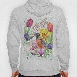 Welcome Spring Robin Hoody