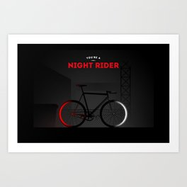 Night Rider Art Print