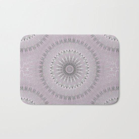 Mauve Silver Mandala Bath Mat