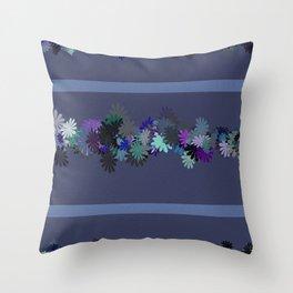 Floral Motif Throw Pillow