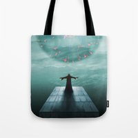nordic Tote Bags featuring Nordic magician by Tony Vazquez