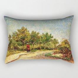 Corner in Voyer-d'Argenson Park at Asnières by Vincent van Gogh Rectangular Pillow