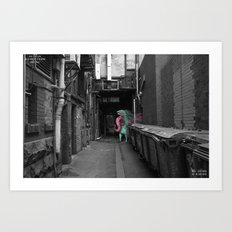 Unseen Monsters of Melbourne - Dimples McGee Art Print