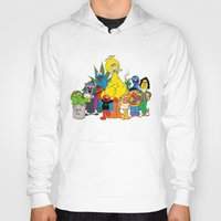 sesame street Hoodies featuring Sesame Street Stoners by Instrum