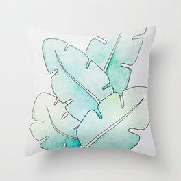 Tropical Watercolors Throw Pillow