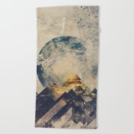 One mountain at a time Beach Towel