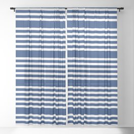 White Stripes Sheer Curtain
