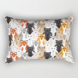 Friendly Foxes Rectangular Pillow