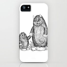 Mini and Big Monster - Friends iPhone Case