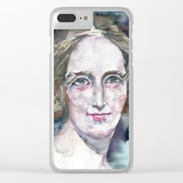 MARY SHELLEY - watercolor portrait Clear iPhone Case