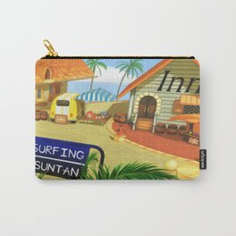 Costa Del Sol Surfing Suntan Carry-All Pouch