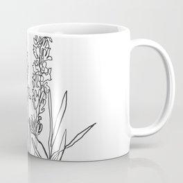 Lavender botanical minimalist line art Coffee Mug