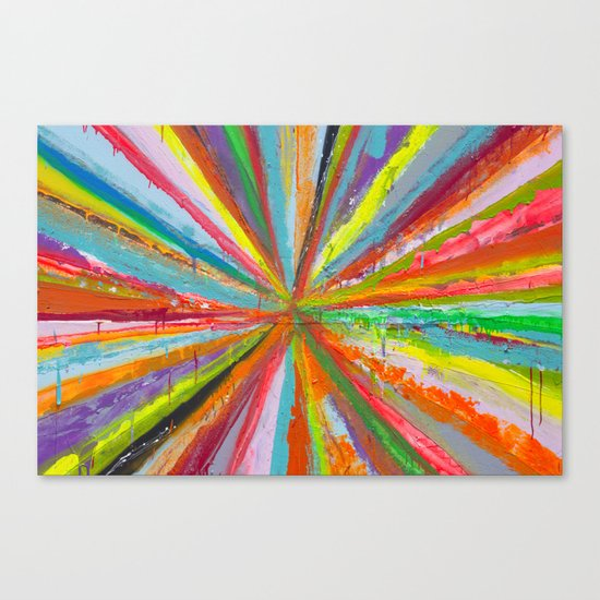 Exploding Rainbow Canvas Print