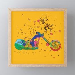 ap127-8 Motorcycle Framed Mini Art Print