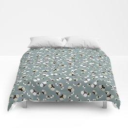 Crisscross Butterflies V.03 - Stone Gray Color Comforters