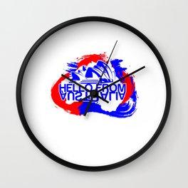 Hello From Australia Wall Clock