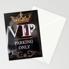 VIP- gold on black Stationery Cards