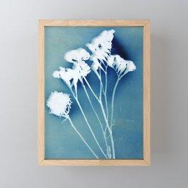 Blue Strawflower Framed Mini Art Print