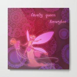 Lovely Queen Honeybee Metal Print