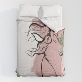 Abstract Equine iii Comforters