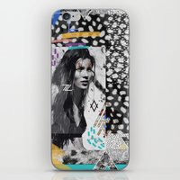kate moss iPhone & iPod Skins featuring KATE MOSS TRIBE by Vasare Nar