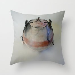 Smoke-Fired Pot Throw Pillow