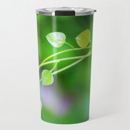 Macro Ivy with Little Green Leaves Travel Mug
