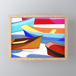 COLORED BOATS Framed Mini Art Print