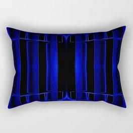 Playing in Blue Rectangular Pillow